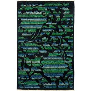 """Arts & Crafts Hand Knotted Area Rug - 3'1"""" X 5'3"""" For Sale"""