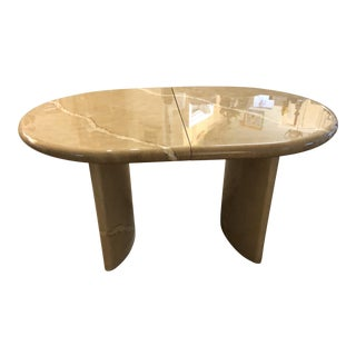 Karl Springer Style Lacquered Oval Dining Table