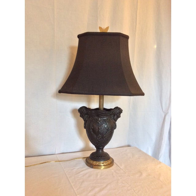 Black Basalt Urn Modified Custom Lamp For Sale - Image 8 of 13