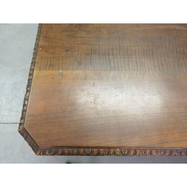 19th Century Carved Walnut Dining Table For Sale - Image 5 of 10