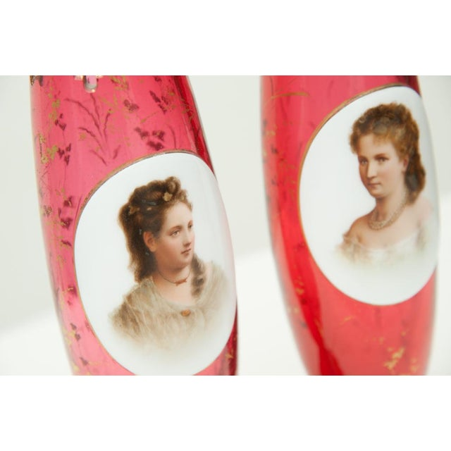 Pair of Porcelain Vases For Sale - Image 4 of 7