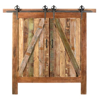 Reclaimed Barn Door Eastern King Headboard For Sale
