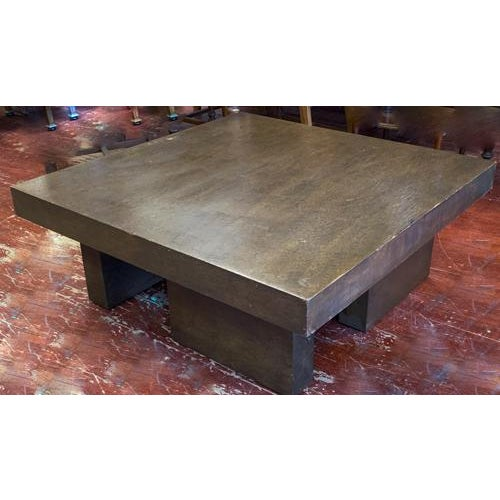 Mid Century Geometric Wood Coffee Table For Sale In New York - Image 6 of 8