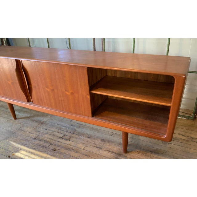 1950s Danish 1950s Teak Credenza Cabinet For Sale - Image 5 of 11