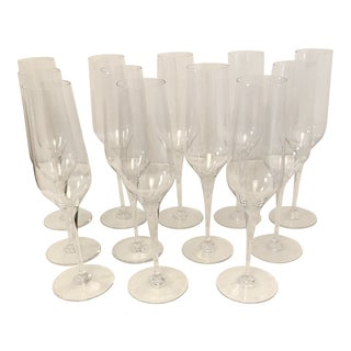 Baccarat St. Remy Champagne Glasses - Set of 12 For Sale