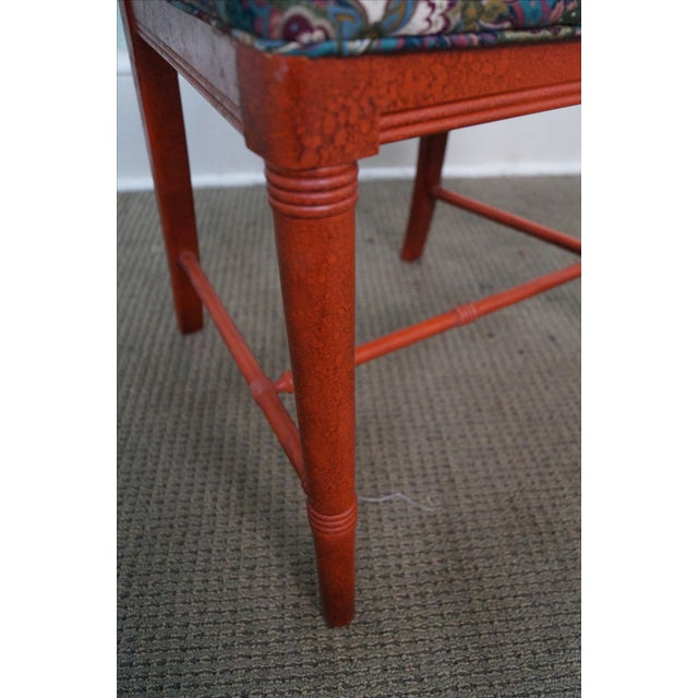 Drexel Heritage Vintage Faux Bamboo Painted Dining Chairs - 6 - Image 7 of 10