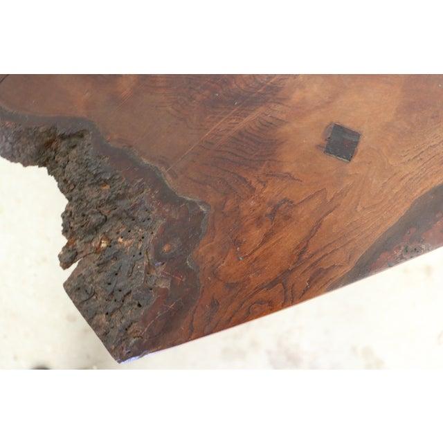 Inscribed Handmade Live Edge Coffee Table - Image 5 of 8