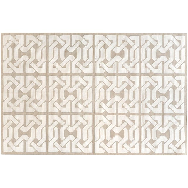 """Stark Studio Rugs Contemporary Cotton Dhurries Rug - 9'11"""" X 13'9"""" For Sale"""
