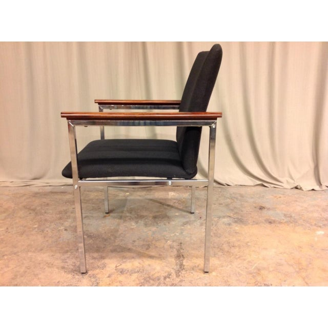 Mid-Century Modern French Mid-Century Arm Chairs - Set of 6 For Sale - Image 3 of 8