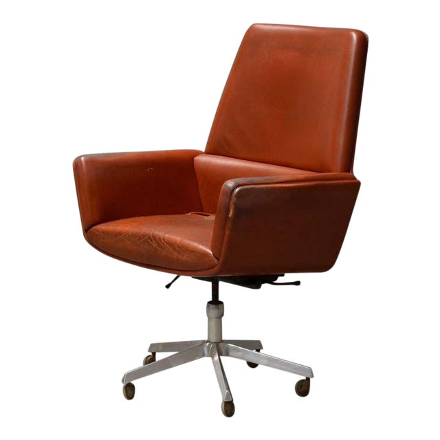 1960s Vintage Finn Juhl for France and Son Designed Executive Chair For Sale