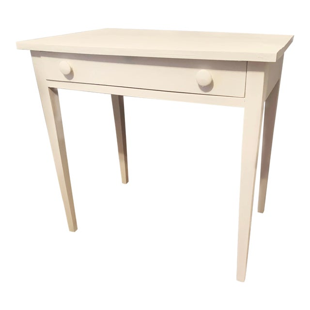 1960s Boho Chic Desk Painted in White Chalk Paint For Sale