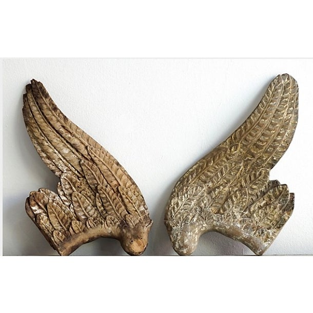 French 1760 French Wood Angel Wings For Sale - Image 3 of 3