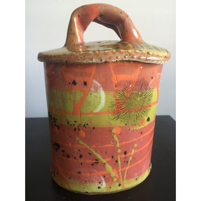 1970s Abstract Colorful Glazed Pottery For Sale - Image 12 of 12