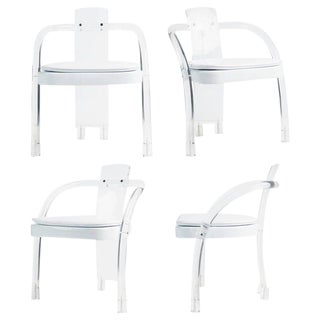 Hill Manufacturing Lucite Waterfall Armchairs - Set of 4