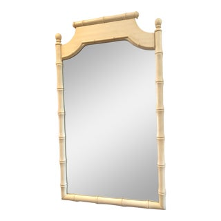 Vintage Faux Bamboo Mirror For Sale