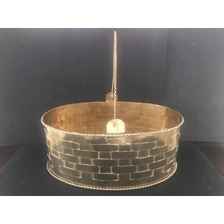 1980's Vintage Woven Brass Basket/Cachepot Preview