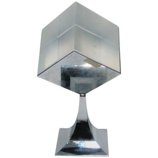 Modern Chrome and Lucite Sculpture, Ca. 1970s For Sale