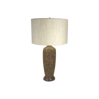 Mid-Century Modern Cork Table Lamp, 1960s For Sale