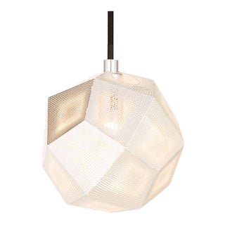 Tom Dixon Etch Mini Pendant in Silver For Sale