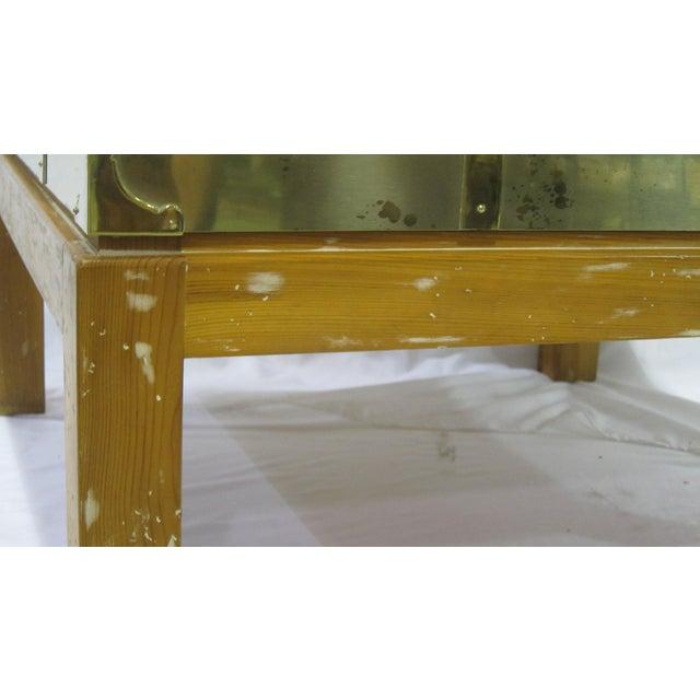 Vintage Sarreid LTD Brass Cocktail Table For Sale - Image 4 of 5