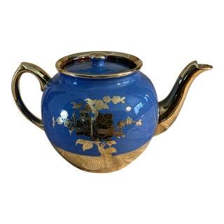 Vintage Blue Sadler Teapot For Sale