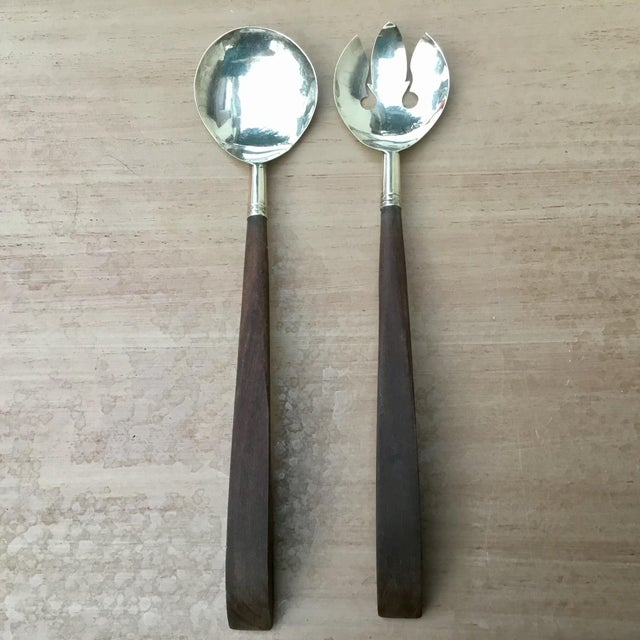 1940s Mid Century Modern Sterling & Rosewood Serving Set - 2 Pieces For Sale In Dallas - Image 6 of 6