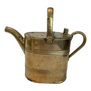 Antique Brass Hot Water Can For Sale