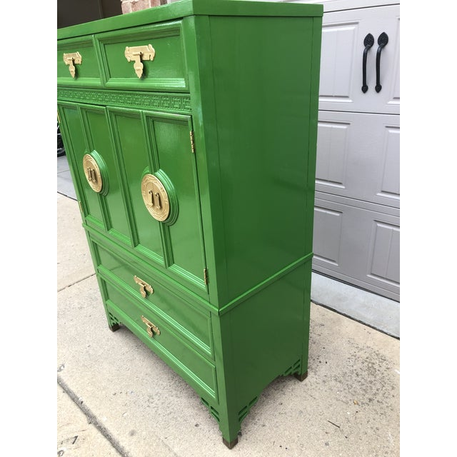Chinoiserie Vintage Chinoiserie Style Dresser by Dixie Furniture For Sale - Image 3 of 9