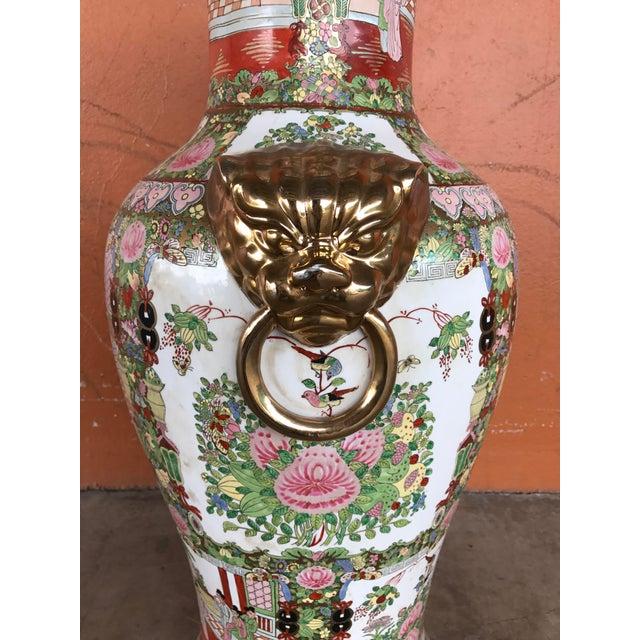 Rose Medallion Floor Vase - Image 7 of 9