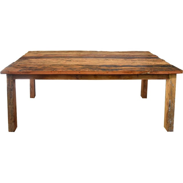 Reclaimed Wood Dining Table - Image 2 of 4