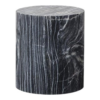 Monolith Gray Marble Side Table
