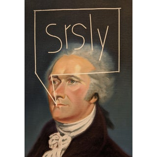 """Srsly (Hamilton)"" Contemporary Portrait Oil Painting"