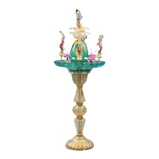 Murano Venetian Glass Water Fountain