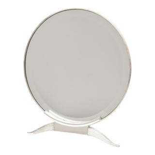"""French Art Deco Signed Ruhlmann Silver-Plate over Bronze """"Antelope Mirror"""" For Sale"""