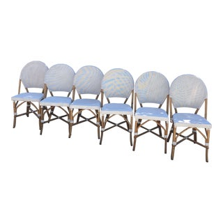 Vintage Deconstructed Bistro Chairs - Set of 6 For Sale