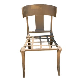 Klismos Outdoor Iron Accent Chair For Sale