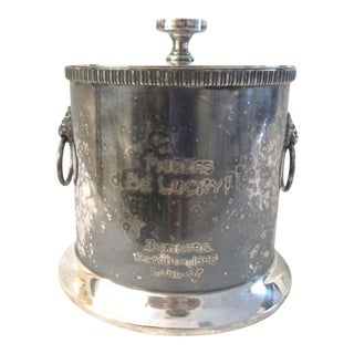 1966 English Fishers Be Lucky Silver Box For Sale