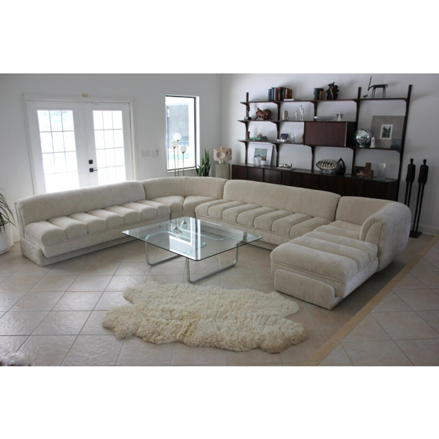 Extremely rare, large custom sofa sectional attributed to Vladimir Kagan for Directional. This luxurious, well-made piece...