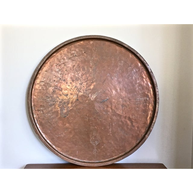 Vintage Rustic Copper Tray - Image 2 of 9