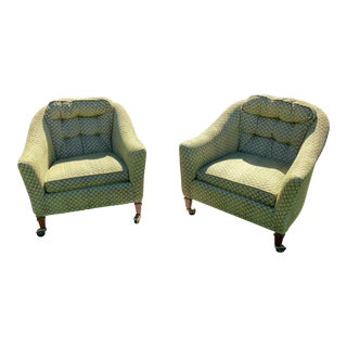 Mid-Century Modern Club Chairs on Castors - A Pair For Sale