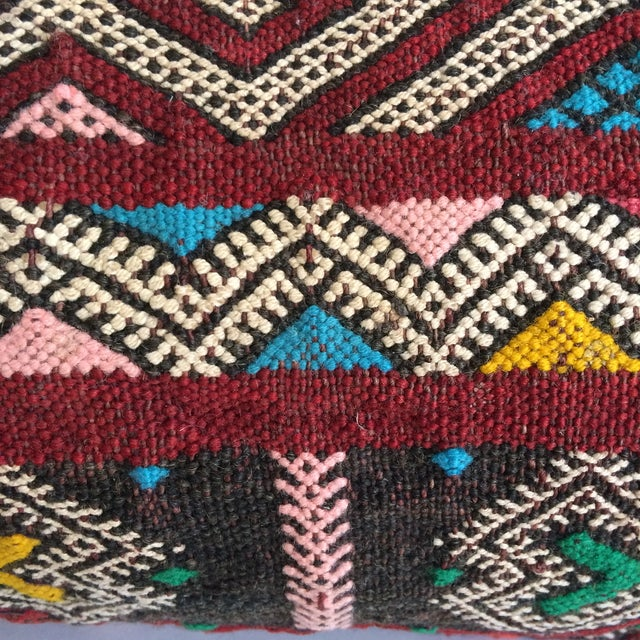 Burgundy Turkish Kilim Pillow - Image 9 of 11