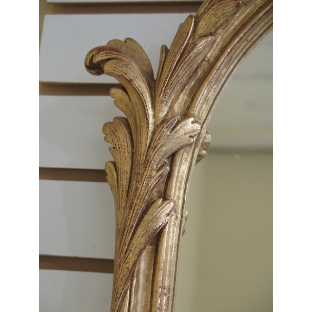 Gold 1990s Labarge Gold Gilt Mantle or Sideboard Horizontal Mirror For Sale - Image 8 of 12