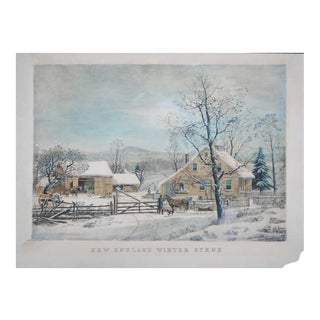 After Currier & Ives, New England Scene, e.20thC For Sale