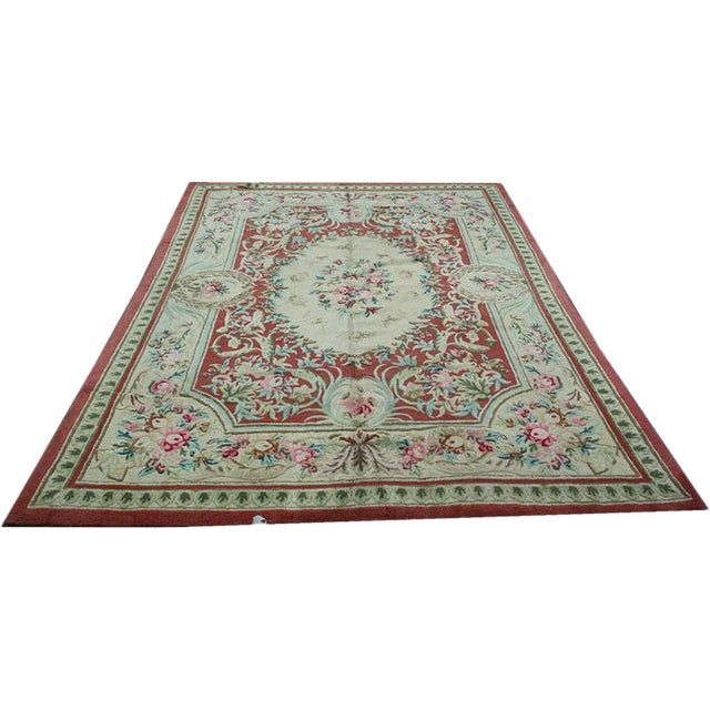 "Vintage Decorative Hooked Rug - 8'10"" x 12'2"" - Image 1 of 6"