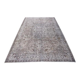 """Oushak Handmade Anatolian Floor Carpet - 5'6"""" 8'9"""" For Sale"""