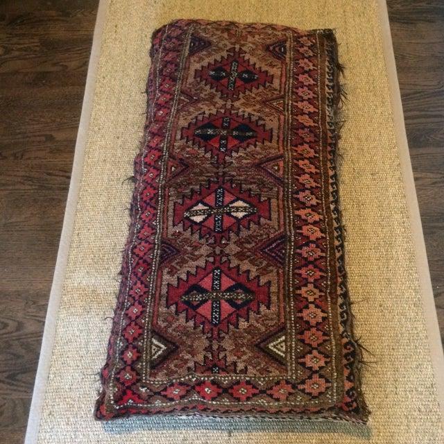 Vintage Rug Remnant Floor Pillow - Image 8 of 10