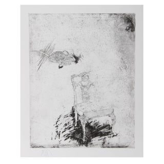Donald Saff, Mouse and Chair, Etching