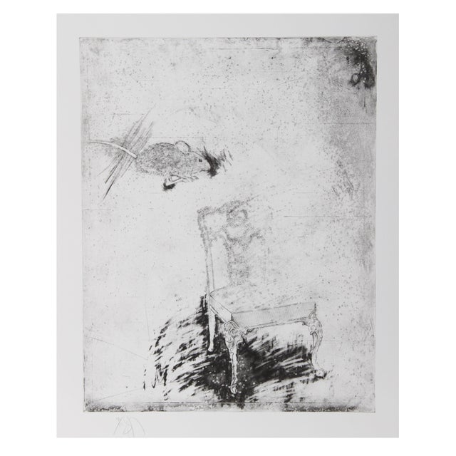 Donald Saff, Mouse and Chair, Etching For Sale