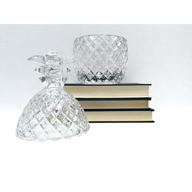 Vintage Large Clear Glass Pineapple With Lid - Image 9 of 9