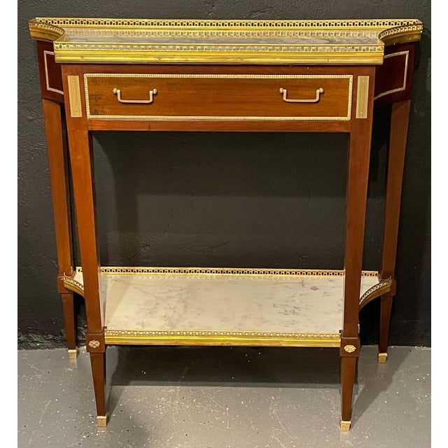 1960s Russian Neoclassical Console Tables, Sofa Tables or Bedside Stands - a Pair For Sale - Image 5 of 12